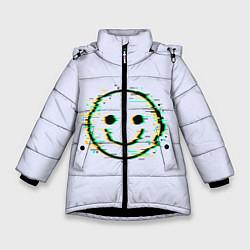Куртка зимняя для девочки Smile цвета 3D-черный — фото 1