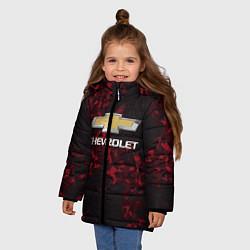 Куртка зимняя для девочки Chevrolet цвета 3D-черный — фото 2