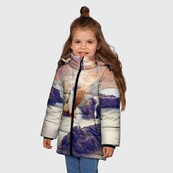 Куртка зимняя для девочки Sea Sunset Horse цвета 3D-черный — фото 2