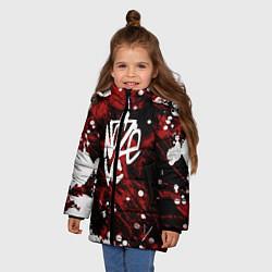 Куртка зимняя для девочки Noize MC цвета 3D-черный — фото 2