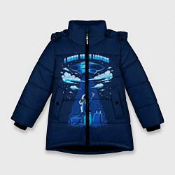 Куртка зимняя для девочки Ufo цвета 3D-черный — фото 1