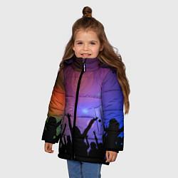 Детская зимняя куртка для девочки с принтом Пати, цвет: 3D-черный, артикул: 10207798106065 — фото 2