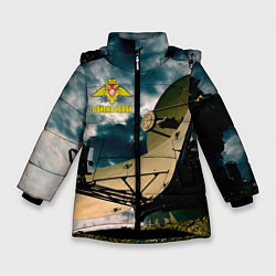Куртка зимняя для девочки Войска связи цвета 3D-черный — фото 1