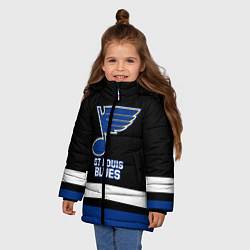 Куртка зимняя для девочки Сент-Луис Блюз цвета 3D-черный — фото 2