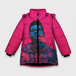 Куртка зимняя для девочки The Weekend цвета 3D-черный — фото 1