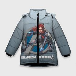 Куртка зимняя для девочки Черная вдова цвета 3D-черный — фото 1