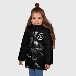 Куртка зимняя для девочки НАРУТО цвета 3D-черный — фото 2