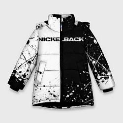 Куртка зимняя для девочки Nickelback цвета 3D-черный — фото 1