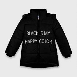 Куртка зимняя для девочки Black цвета 3D-черный — фото 1