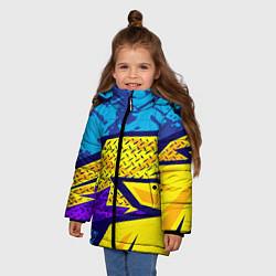 Куртка зимняя для девочки Bona Fide Одежда для фитнеса цвета 3D-черный — фото 2
