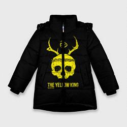 Куртка зимняя для девочки Настоящий детектив цвета 3D-черный — фото 1