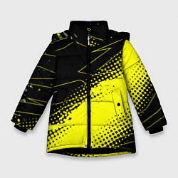Куртка зимняя для девочки Bona Fide Одежда для фитнеcа цвета 3D-черный — фото 1