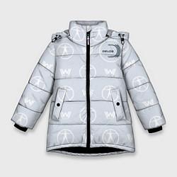 Куртка зимняя для девочки Delos цвета 3D-черный — фото 1
