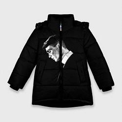 Куртка зимняя для девочки Peaky Blinders цвета 3D-черный — фото 1