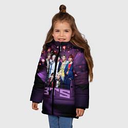 Куртка зимняя для девочки BTS цвета 3D-черный — фото 2