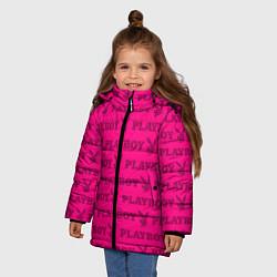 Куртка зимняя для девочки PLAYBOY цвета 3D-черный — фото 2