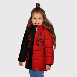Детская зимняя куртка для девочки с принтом SCORPIONS, цвет: 3D-черный, артикул: 10212831306065 — фото 2