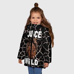 Детская зимняя куртка для девочки с принтом Juice WRLD, цвет: 3D-черный, артикул: 10212973906065 — фото 2