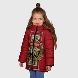 Куртка зимняя для девочки King Of Hell цвета 3D-черный — фото 2