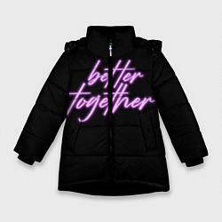 Куртка зимняя для девочки Вместе лучше цвета 3D-черный — фото 1