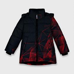 Куртка зимняя для девочки RED STRIPES цвета 3D-черный — фото 1