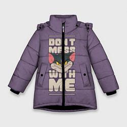 Куртка зимняя для девочки Dont mess with me цвета 3D-черный — фото 1