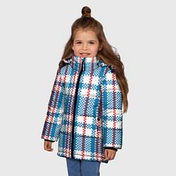 Куртка зимняя для девочки Текстура Сумка Челнока цвета 3D-черный — фото 2