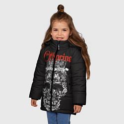Куртка зимняя для девочки Offspring цвета 3D-черный — фото 2