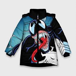 Куртка зимняя для девочки Venom цвета 3D-черный — фото 1