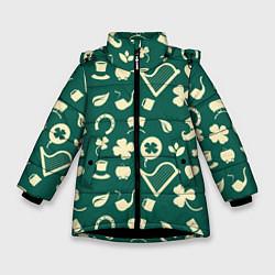 Куртка зимняя для девочки Ирландский арт цвета 3D-черный — фото 1