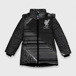 Куртка зимняя для девочки Liverpool F C цвета 3D-черный — фото 1
