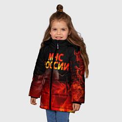 Куртка зимняя для девочки МЧС России цвета 3D-черный — фото 2
