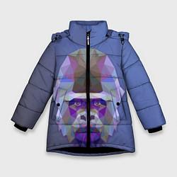 Куртка зимняя для девочки Kong цвета 3D-черный — фото 1