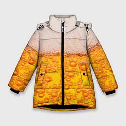 Куртка зимняя для девочки ПИВО цвета 3D-черный — фото 1