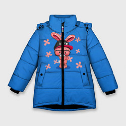Куртка зимняя для девочки Милый Заяц цвета 3D-черный — фото 1