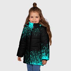 Куртка зимняя для девочки Краска цвета 3D-черный — фото 2