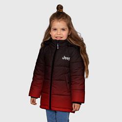 Детская зимняя куртка для девочки с принтом Jeep спина Z, цвет: 3D-черный, артикул: 10237334506065 — фото 2