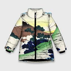 Куртка зимняя для девочки ЯПОНИЯ цвета 3D-черный — фото 1