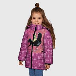 Куртка зимняя для девочки Мулан цвета 3D-черный — фото 2