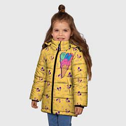 Детская зимняя куртка для девочки с принтом Минни Маус мороженое, цвет: 3D-черный, артикул: 10250066506065 — фото 2
