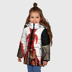 Куртка зимняя для девочки FAIRY TAIL ХВОСТ ФЕИ цвета 3D-черный — фото 2