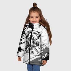 Куртка зимняя для девочки FIREFIGHTER 1649 RUSSIA цвета 3D-черный — фото 2