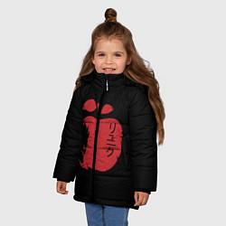 Куртка зимняя для девочки Рюк Тетрадь смерти цвета 3D-черный — фото 2