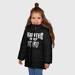 Куртка зимняя для девочки KIZARU HAUNTED FAMILY цвета 3D-черный — фото 2