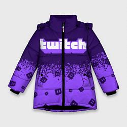 Куртка зимняя для девочки TWITCH ТВИЧ цвета 3D-черный — фото 1