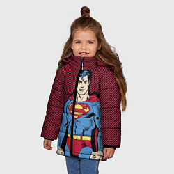 Куртка зимняя для девочки I am your Superman цвета 3D-черный — фото 2