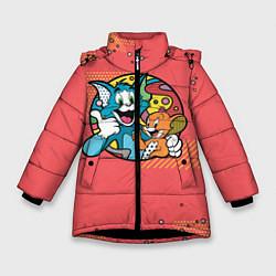 Куртка зимняя для девочки BESTIES FOREVER цвета 3D-черный — фото 1