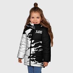 Куртка зимняя для девочки Judo цвета 3D-черный — фото 2