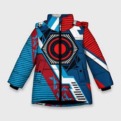 Куртка зимняя для девочки Cyborg logo цвета 3D-черный — фото 1