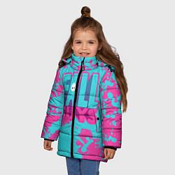 Куртка зимняя для девочки Fall Guys: Ultimate Knockout цвета 3D-черный — фото 2